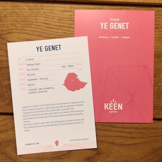 Ye Genet info card - Keen Coffee